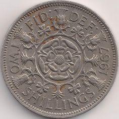 Wertseite: Münze-Europa-Westeuropa-Vereinigtes Königreich-<1971-Shilling-2-1954-1970