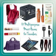 Travel: 10 Multipurpose Must Haves for Travelers