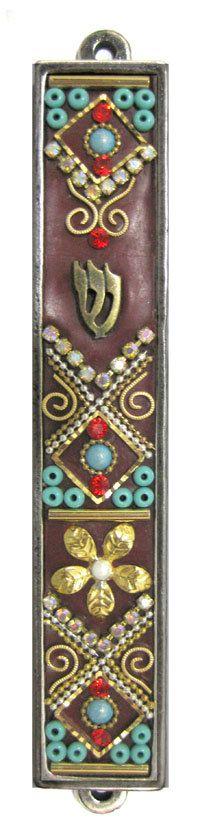 New Israel Mezuzah Handmade Art Swarovski by IrinaSmilansky, $45.99