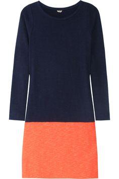 Maritime color-block cotton dress