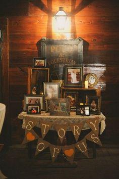 rustic barn wedding story table decor ideas / www.deerpearlflow...