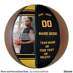 Shop Photo and Personalized Basketball Ball for Seniors created by LittleLindaPinda. Personalize it with photos & text or purchase as is! Basketball Photos, Basketball Gifts, Sports Gifts, Basketball Players, Softball Gifts, Cheerleading Gifts, Basketball Rim, Personalized Basketball, Custom Basketball