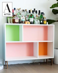 It's a bar, it's an IKEA hack, but it's not a bar cart.