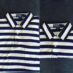 9a3dea4707 Used White and black stripe polo ralph lauren polo shirt for sale in  Lincoln - letgo