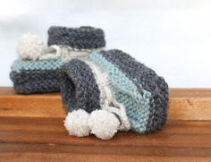 Baby-boy Booties Knitted booties 0-3m baby booties by LiliasDesign
