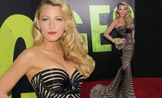 It's a cinch! Blake Lively shows off her tiny waist in corset gown at Savages premiere