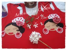 Camisetas Flamencas Textiles, Embroidery Applique, Chanel, Apron, Upcycle, Scrapbook, Sewing, Crafts, Scrappy Quilts