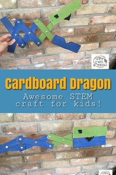 An awesome STEM activity for kids! These are such a quick and easy craft for kids that is full of learning. These cardboard dragons are awesome!