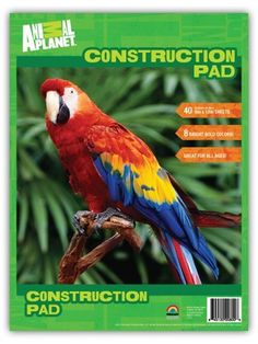 Animal Planet Construction Paper Pad, 9 x 12 Inches, 8 Assorted Colors, 40 Sheets (800) by Animal Planet. $4.99. This construction paper pad by Animal Planet measures 9 x 12 inches in size and contains 40 high quality sheets. Each pad contains and assortment of 8 bright, bold colors, including: black, green, blue, pink, purple, red, orange and yellow. The paper is perfect for stocking the classroom cabinets or completing your child's school supply list. Also great for ar...