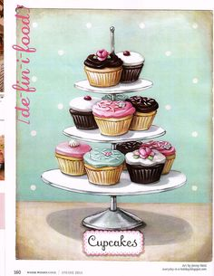 "Hooray!! ""Cupcakes"" is featured in Where Women Cook this month! page 160 