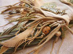 Buff Deerskin Sweetgrass Medicine Pouch by deserttalismans on Etsy