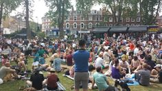 Jazz on the Green 2015 was great! Three Postcodes meet on the corner of Newington Green  - N16, N1 and N5.
