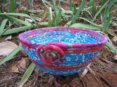 Coiled Fabric Basket - set of two. $35,00, via Etsy.