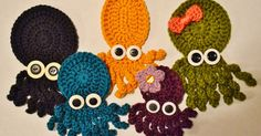 I made these little guys a couple of months ago. Meet Ollie, Violet, Inky, Squish, and Coral. I made Ollie on a total whim, and loved h...