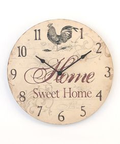 Take a look at this Rooster Wood Wall Clock by Young's on #zulily today!