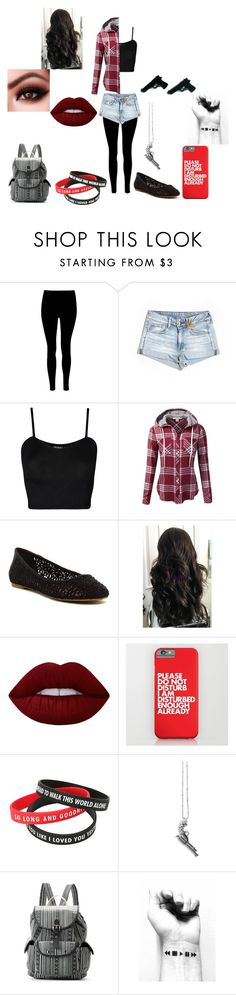 """""""Roleplaying Outfit! #20"""" by littleghostwhisperer ❤ liked on Polyvore featuring American Eagle Outfitters, WearAll, J.TOMSON, Lucky Brand, Lime Crime, Kasun and Mudd"""