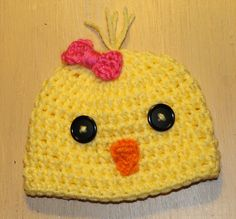 Pdf Crochet Chick Beanie with Small Bow Pattern by KraftyShack, $2.99