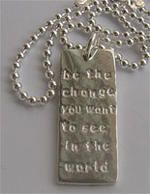 Jonahs Tag-1. Sterling silver stamped necklace