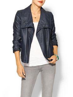 Piperlime | Vegan Leather Moto Jacket