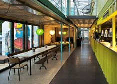 Wahaca shipping container restaurant by Softroom, London