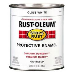 Shop Rust-Oleum Stops Rust White Gloss Oil-based Enamel Interior/Exterior Paint (Actual Net Contents: 32-fl oz) at Lowes.com