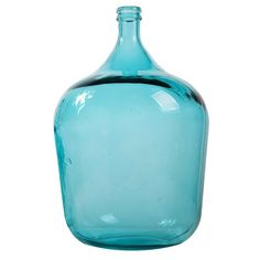 56cm Teal Glass Bottle Vase - Stoneleigh & Roberson - on Temple & Webster today.