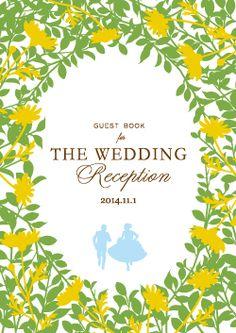 草むらごしに2人の姿が見える♪ 黄色のおしゃれな席次表一覧。結婚式の席次表まとめ。