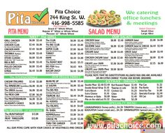 picture about Pita Pit Printable Menu referred to as 287 Least complicated Cafe Menus of Toronto photographs inside of 2018 Menu