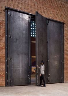 7 Eager Clever Tips: Industrial Bar Restaurant industrial bathroom gray.Industrial Shelving Around Tv industrial bar restaurant. The Doors, Entrance Doors, Windows And Doors, Doorway, Industrial Door, Industrial Living, Industrial Interiors, Industrial Closet, Industrial Bookshelf