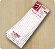 As Low as 52¢ | 3.5 x 10.5 Magnetic Scratch Pads w/ Business Card Magnet