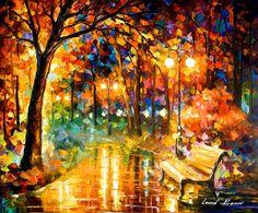 "Necessity of Passion — PALETTE KNIFE Landscape Modern Fine Art Oil Painting On Canvas By Leonid Afremov - Size: 30"" x 24"" (75 cm x 60 cm)"