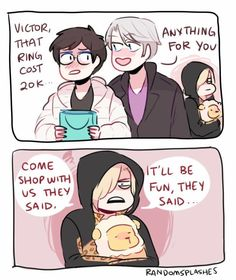 Yurio's reaction is gold xD