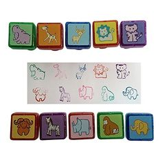 InkZoo: Self Inking Animal Stampers - Plastic Stamper Set with 10 Stampers for Parents/Teachers and Kids - High Quality, Easy to Use Craft Supplies for Kids - Great for Art Craft Supplies and Scrapbooking Supplies - Satisfaction Guaranteed Excellent Doer http://smile.amazon.com/dp/B00Q2FMYYC/ref=cm_sw_r_pi_dp_yGF9ub01HDCXC