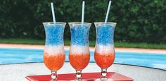 Red, White and Blue Striped Juice Freezie