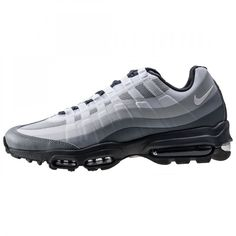 4e78604c58d Nike Air Max 95 Ultra Essential Mens Trainers in White Grey