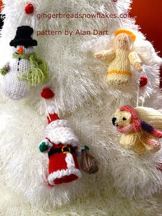 Advent Tree and Christmas Tree Decorations  - patterns by Alan Dart find the pattern here: http://www.alandart.co.uk/