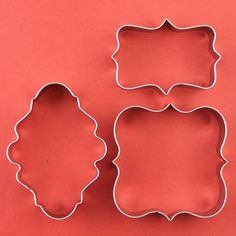 Eoonfirst Brand Plaque Frame, Square Frame Plaque, Fancy Oval Metal Cookie Cutter Set New