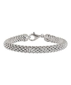 Look at this Sterling Silver Flexible Popcorn Bracelet on #zulily today!