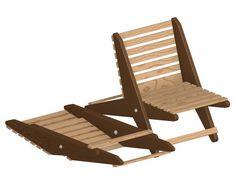 Garden folding chair plan | Craftsmanspace  Free technical plans, books, patterns, software.