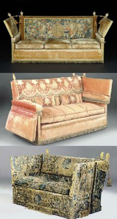 a collection of Knole sofas sold by Christie's Auction House