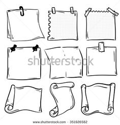 Hand Drawn Doodle Notepaper Messages Set Stock Vector (Royalty Free) 355669787 - Set of hand drawn paper notes in vector. - : Hand Drawn Doodle Notepaper Messages Set Stock Vector (Royalty Free) 355669787 - Set of hand drawn paper notes in vector. Bullet Journal Banner, Bullet Journal Lettering Ideas, Bullet Journal Notebook, Bullet Journal Ideas Pages, Bullet Journal Inspiration, Bullet Journal Vectors, Banners, Doodle Frames, Doodle Borders