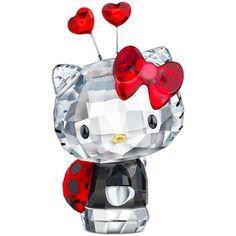 Swarovski Collectible Figurine, Hello Kitty Ladybug ($150) ❤ liked on Polyvore featuring home, home decor, figurines, no color, hello kitty home accessories, crystal home decor, hello kitty figurines, ladybug home decor и crystal glass figurines