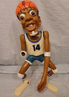 Hoop Dribbles #14 Basketball Action Figure Vintage 1986 HG Toys MISSING HAND #HGToys