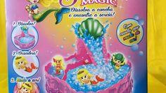 Sereia Magic - Brinquedo Surpresa com ilha aquática - Concha Sereia Magic -