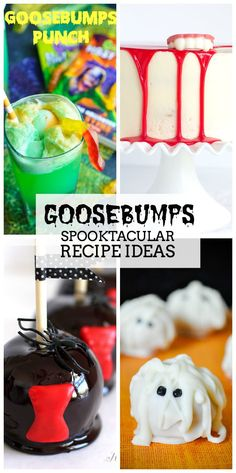 These Goosebumps Spooktacular Recipe Ideas are the perfect way to get ready for the new movie or as additions to your Halloween party!
