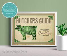 This item is unavailable Pork Cuts Chart, Lamb Cuts, Kitchen Art Prints, Living Room Prints, Home Bar Decor, Patent Prints, Artwork Prints, Wall Art, Vintage Style