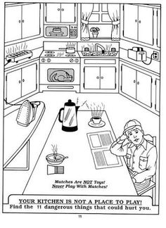 Fire Safety Coloring Pages Sketch Page