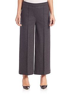Theory Raoka Flannel Coulotte Pants - Dark Charcoal - Size X Small