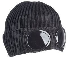 Beanie hat with Goggle Lenses 6decbec8b572
