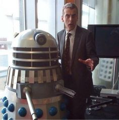 Peter with a Dalek on his side... #Exterminate
